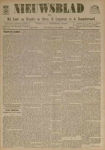 Nieuwsblad het land van Heusden en Altena de Langstraat en de Bommelerwaard 1899-02-22