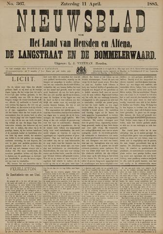 Nieuwsblad het land van Heusden en Altena de Langstraat en de Bommelerwaard 1885-04-11