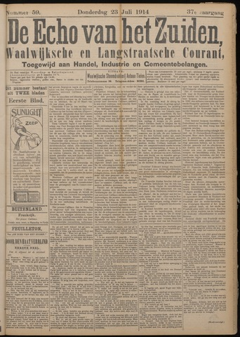 Echo van het Zuiden 1914-07-23
