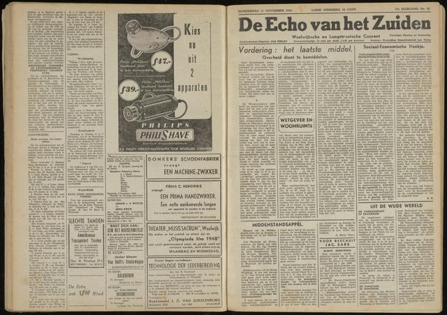 Echo van het Zuiden 1948-11-11