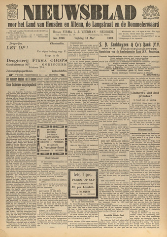 Nieuwsblad het land van Heusden en Altena de Langstraat en de Bommelerwaard 1932-05-13