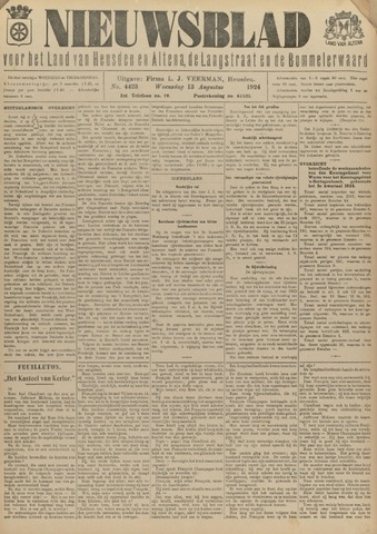 Nieuwsblad het land van Heusden en Altena de Langstraat en de Bommelerwaard 1924-08-13