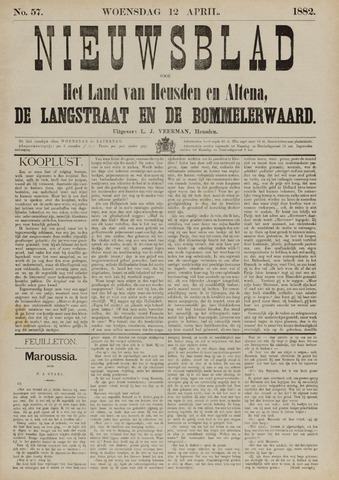 Nieuwsblad het land van Heusden en Altena de Langstraat en de Bommelerwaard 1882-04-12