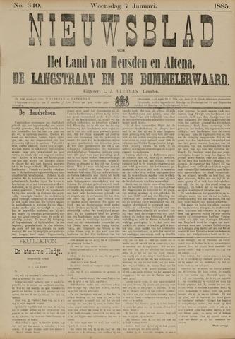 Nieuwsblad het land van Heusden en Altena de Langstraat en de Bommelerwaard 1885-01-07