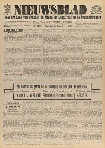 Nieuwsblad het land van Heusden en Altena de Langstraat en de Bommelerwaard 1932-08-10