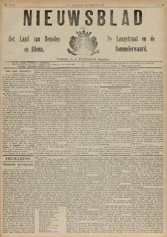 Nieuwsblad het land van Heusden en Altena de Langstraat en de Bommelerwaard 1892-02-13