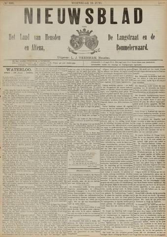 Nieuwsblad het land van Heusden en Altena de Langstraat en de Bommelerwaard 1890-06-18