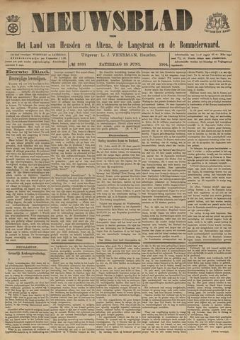 Nieuwsblad het land van Heusden en Altena de Langstraat en de Bommelerwaard 1904-06-25