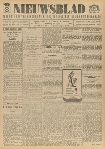 Nieuwsblad het land van Heusden en Altena de Langstraat en de Bommelerwaard 1930-04-30