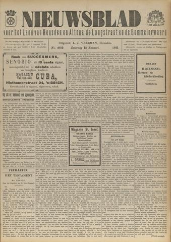 Nieuwsblad het land van Heusden en Altena de Langstraat en de Bommelerwaard 1921-01-15