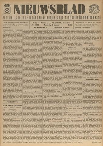 Nieuwsblad het land van Heusden en Altena de Langstraat en de Bommelerwaard 1924-01-09
