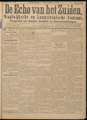 Echo van het Zuiden 1904-12-01