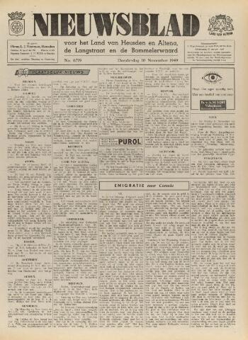 Nieuwsblad het land van Heusden en Altena de Langstraat en de Bommelerwaard 1949-11-10