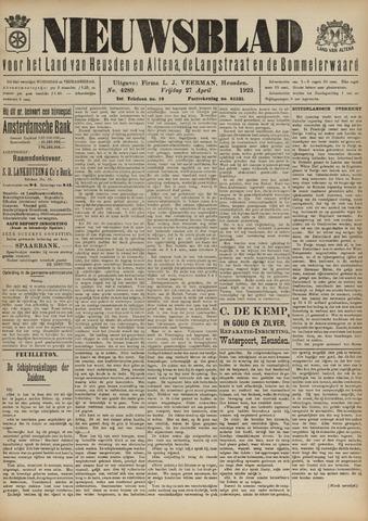 Nieuwsblad het land van Heusden en Altena de Langstraat en de Bommelerwaard 1923-04-27