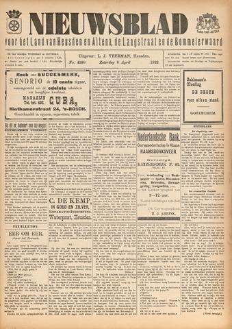 Nieuwsblad het land van Heusden en Altena de Langstraat en de Bommelerwaard 1922-04-08