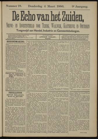 Echo van het Zuiden 1886-03-04