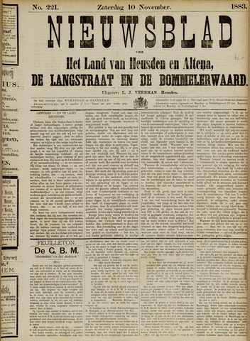 Nieuwsblad het land van Heusden en Altena de Langstraat en de Bommelerwaard 1883-11-10