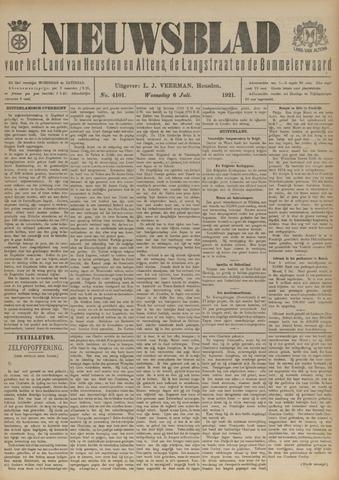 Nieuwsblad het land van Heusden en Altena de Langstraat en de Bommelerwaard 1921-07-06