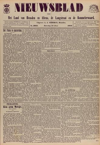 Nieuwsblad het land van Heusden en Altena de Langstraat en de Bommelerwaard 1910-06-11