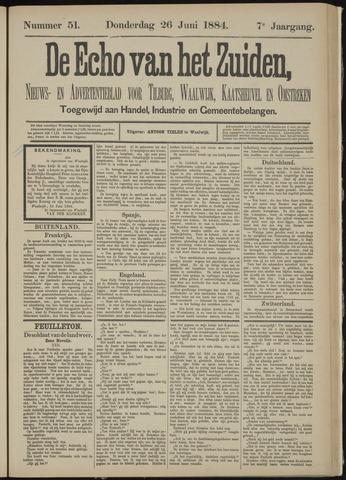 Echo van het Zuiden 1884-06-26