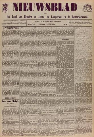 Nieuwsblad het land van Heusden en Altena de Langstraat en de Bommelerwaard 1910-02-12