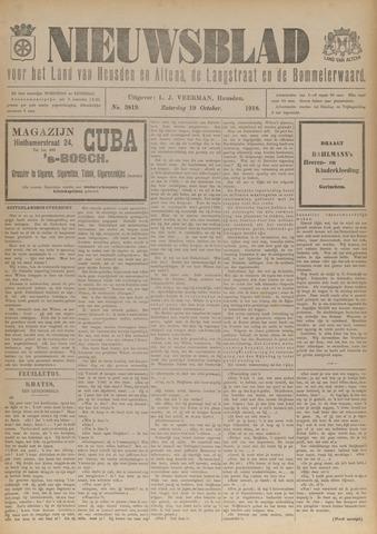Nieuwsblad het land van Heusden en Altena de Langstraat en de Bommelerwaard 1918-10-19