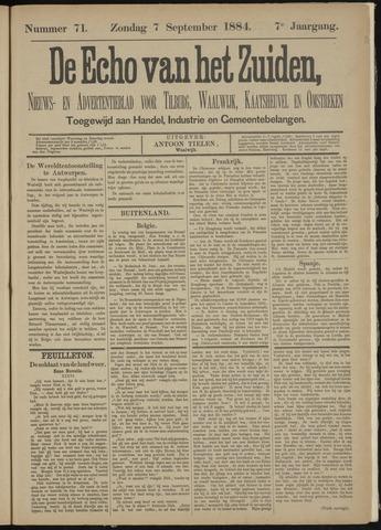 Echo van het Zuiden 1884-09-07