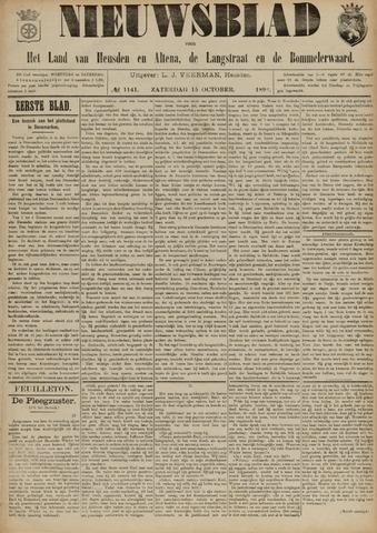 Nieuwsblad het land van Heusden en Altena de Langstraat en de Bommelerwaard 1892-10-15