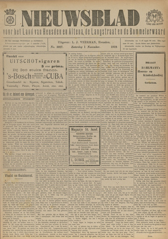 Nieuwsblad het land van Heusden en Altena de Langstraat en de Bommelerwaard 1919-11-01