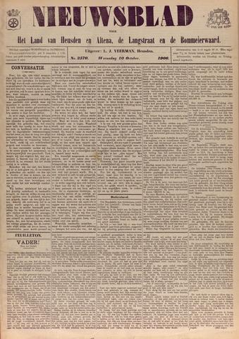 Nieuwsblad het land van Heusden en Altena de Langstraat en de Bommelerwaard 1906-10-10