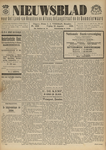 Nieuwsblad het land van Heusden en Altena de Langstraat en de Bommelerwaard 1923-08-24