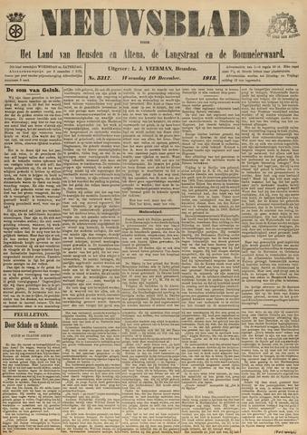 Nieuwsblad het land van Heusden en Altena de Langstraat en de Bommelerwaard 1913-12-10