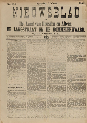 Nieuwsblad het land van Heusden en Altena de Langstraat en de Bommelerwaard 1887-03-05