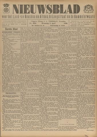 Nieuwsblad het land van Heusden en Altena de Langstraat en de Bommelerwaard 1924-04-02