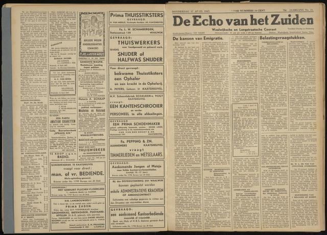 Echo van het Zuiden 1947-04-17