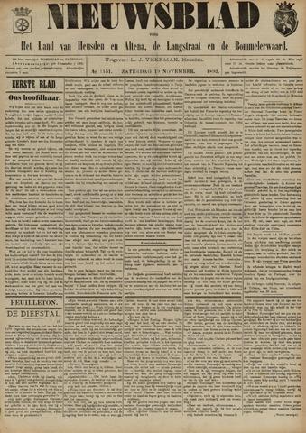 Nieuwsblad het land van Heusden en Altena de Langstraat en de Bommelerwaard 1892-11-19