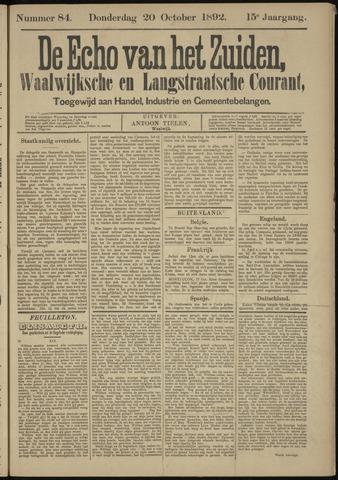 Echo van het Zuiden 1892-10-20