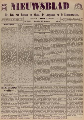 Nieuwsblad het land van Heusden en Altena de Langstraat en de Bommelerwaard 1910-11-30