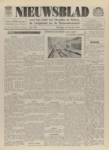 Nieuwsblad het land van Heusden en Altena de Langstraat en de Bommelerwaard 1949-10-24