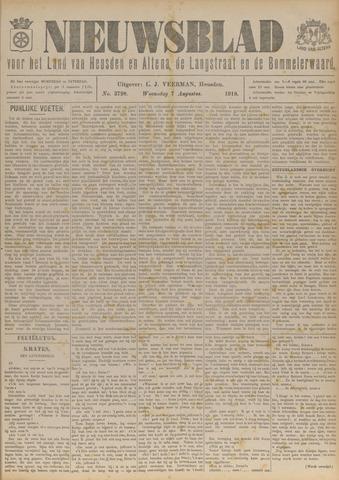 Nieuwsblad het land van Heusden en Altena de Langstraat en de Bommelerwaard 1918-08-07