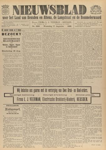 Nieuwsblad het land van Heusden en Altena de Langstraat en de Bommelerwaard 1932-08-17