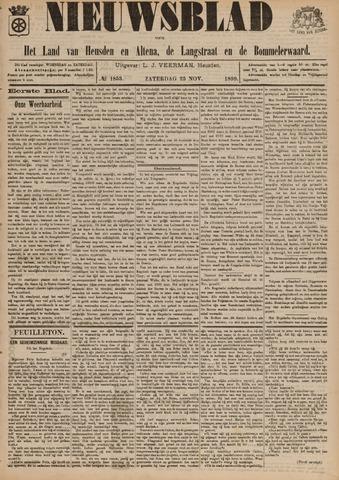 Nieuwsblad het land van Heusden en Altena de Langstraat en de Bommelerwaard 1899-11-25