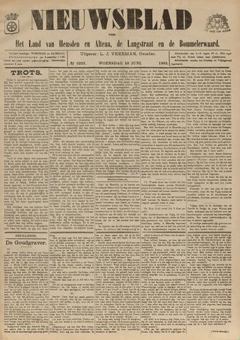 Nieuwsblad het land van Heusden en Altena de Langstraat en de Bommelerwaard 1903-06-10