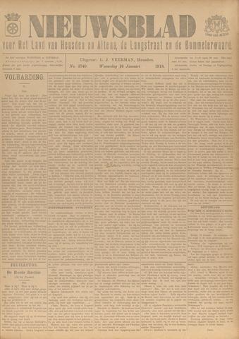 Nieuwsblad het land van Heusden en Altena de Langstraat en de Bommelerwaard 1918-01-16