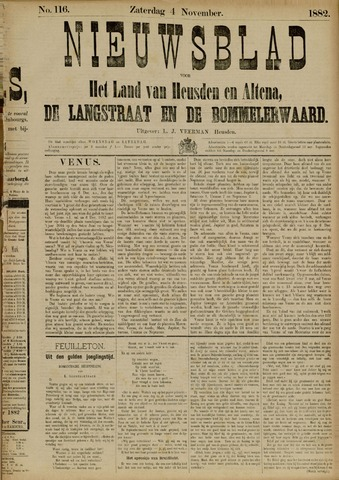 Nieuwsblad het land van Heusden en Altena de Langstraat en de Bommelerwaard 1882-11-04