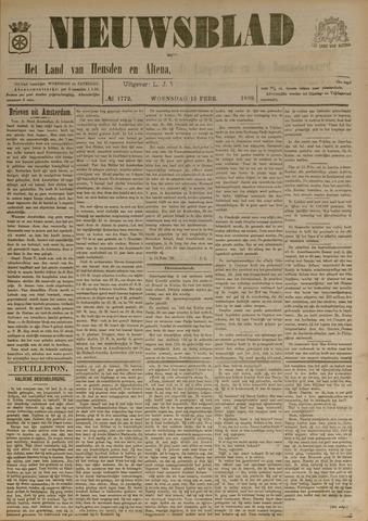Nieuwsblad het land van Heusden en Altena de Langstraat en de Bommelerwaard 1899-02-15
