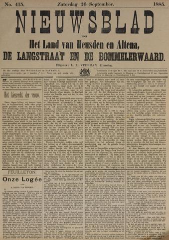 Nieuwsblad het land van Heusden en Altena de Langstraat en de Bommelerwaard 1885-09-26