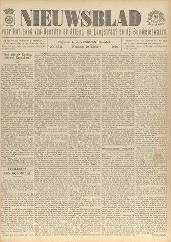 Nieuwsblad het land van Heusden en Altena de Langstraat en de Bommelerwaard 1918-01-30