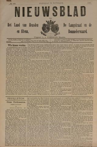 Nieuwsblad het land van Heusden en Altena de Langstraat en de Bommelerwaard 1887-11-16