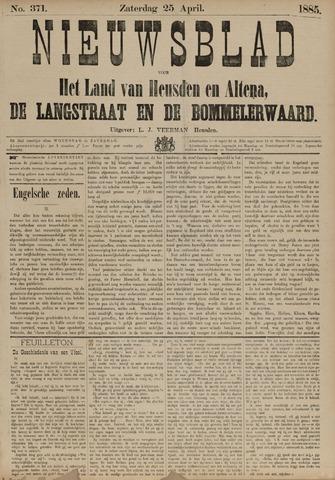 Nieuwsblad het land van Heusden en Altena de Langstraat en de Bommelerwaard 1885-04-25